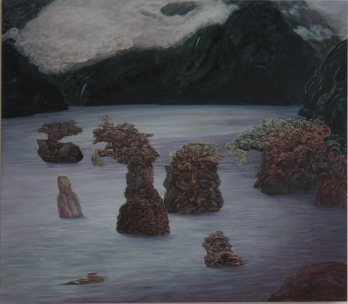At the Edge of the Skirt of the World. 2014. 104 x 130 cm